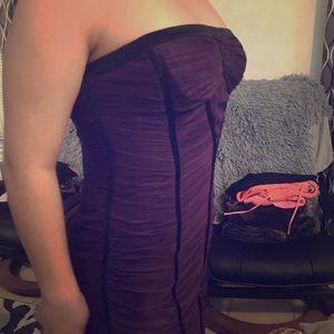 BCBG Maxazria purple and black dress size 08